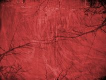 Red grunge background with textures Stock Photography