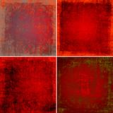 Red grunge backgrounds Stock Image