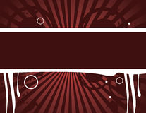 Red grunge banner. Red and white background and  horizontal banner design Royalty Free Stock Photography