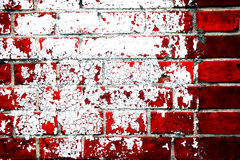 Red grunge brick wall Royalty Free Stock Images