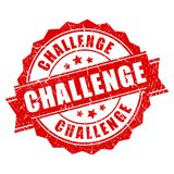 Red grunge challenge stamp stock illustration