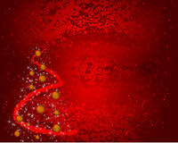 Red Grunge Christmas Background With Decorations Stock Photo