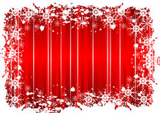 Red Grunge Christmas Design Stock Photography