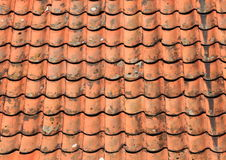 Red grunge clay roof tile background Royalty Free Stock Photo