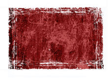 Red grunge frame Stock Images