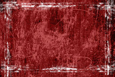 Red grunge frame Stock Photography