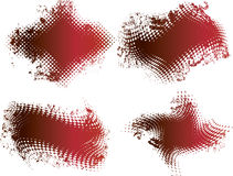 Red grunge halftone banner Stock Image