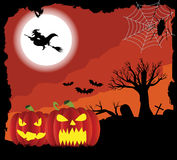 Red grunge halloween background Stock Images