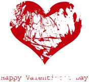 Red grunge heart,  Royalty Free Stock Photos