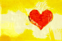Red grunge heart Royalty Free Stock Photos