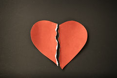 Red Grunge heartbroken Royalty Free Stock Photography