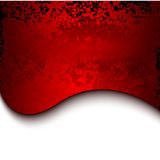 Red grunge metal background with lines Stock Image