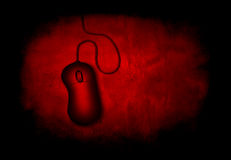 Red Grunge Mouse Royalty Free Stock Photo