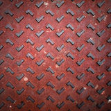 Red Grunge Rusty Steel Floor Plate Royalty Free Stock Photography