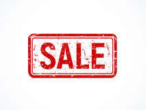 Red grunge sale stamp, old fashioned icon. Royalty Free Stock Image
