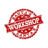 Red Grunge SANTA S WORKSHOP Stamp Seal Watermark royalty free illustration