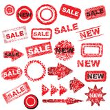 Red grunge signs Royalty Free Stock Photos
