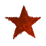 Red grunge star. Vector Royalty Free Stock Photography