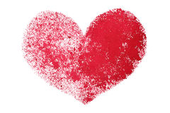 Red grunge stenciled heart Stock Photos
