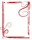 Red grunge swirls frame vector illustration