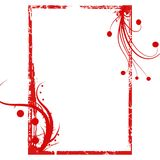 Red grunge swirls frame background Royalty Free Stock Photos