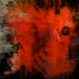 Red grunge texture. High resolution detailed grungy texture with space for writing Royalty Free Stock Photography
