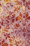 Red grunge texture floral design Stock Image