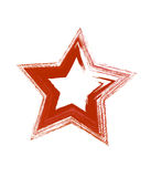 Red grunge vector star Royalty Free Stock Image