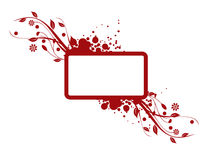 Red grungy background. Red floral grungy background with space for text Stock Image