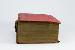 Red grungy book. Photo of a red grungy book Royalty Free Stock Photography