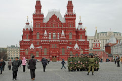 Red Guard Soldiers, Red Square, Moscow, Russia Stock Image