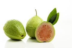 Red guava cut on white background.  stock photography