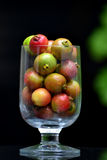 Red Guava. In glass on table outdoor stock images