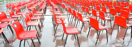 Red guest seats Royalty Free Stock Photos
