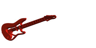 Red Guitar Stock Photo