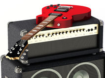 Red Guitar Royalty Free Stock Photo