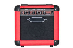 Red guitar amplifier Royalty Free Stock Photo