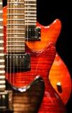 Red Guitar Cutaway Stock Photography