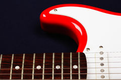 Red guitar part Royalty Free Stock Image