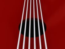 Red Guitar Strings Royalty Free Stock Photo