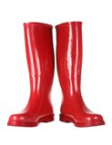 Red Gumboots. On White Background Stock Photo