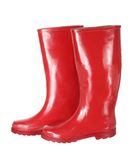 Red Gumboots. On White Background Stock Photography