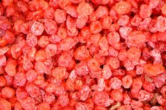 Red gummy candies background Stock Photography