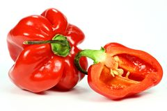 Red habaneros Stock Photography