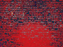 Red hacker code illustration background Stock Photography
