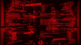 Red Hacker Digital Text Motion Graphic Background