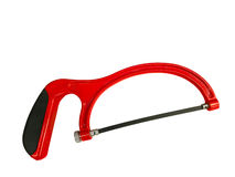 Red Hacksaw Royalty Free Stock Images