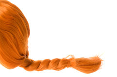 Red hair. Red braided hair as pippi longstocking Royalty Free Stock Photos