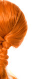 Red hair. Red braided hair as pippi longstocking Stock Photo