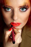 Red Hair. Royalty Free Stock Images
